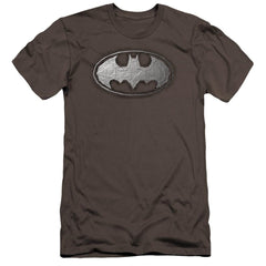 Batman Duct Tape Logo Premium Adult Slim Fit T-Shirt