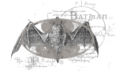 Batman Arcane Bat Logo Men's V-Neck T-Shirt