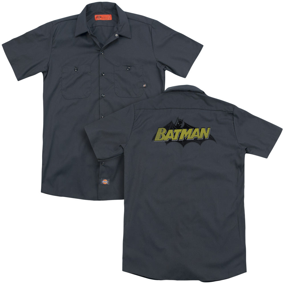 Batman - Classic Comic Logo Adult Work Shirt