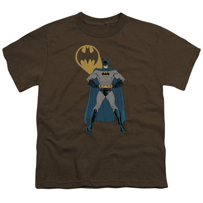 Batman Arms Akimbo Bats Youth T-Shirt (Ages 8-12)