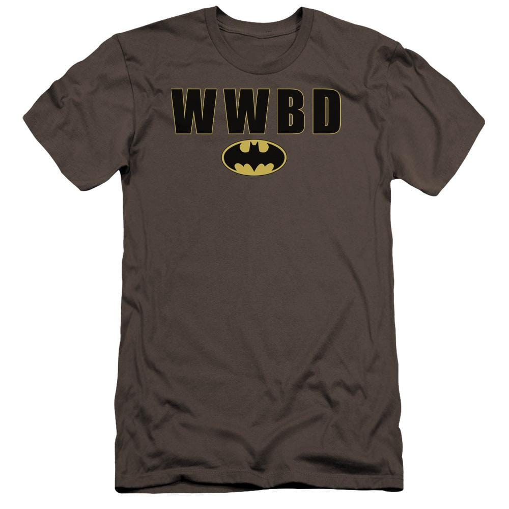 Batman Wwbd Logo Premium Adult Slim Fit T-Shirt