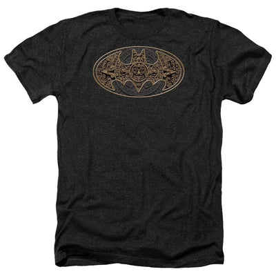 Batman Aztec Bat Logo Men's Heather T-Shirt