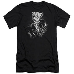 Batman Joker's Splatter Smile Premium Adult Slim Fit T-Shirt
