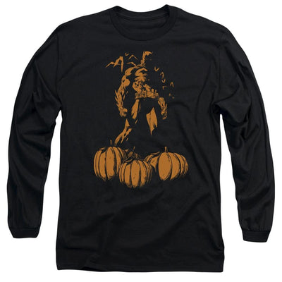 Batman A Bat Among Pumpkins Men's Long Sleeve T-Shirt