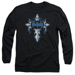 Batman - Gothic Steel Logo Adult Long Sleeve T-Shirt