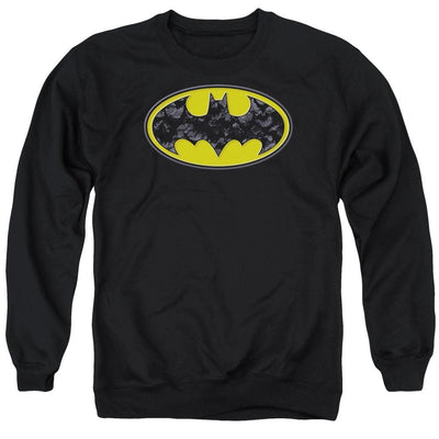 Batman Bats In Logo Men's Crewneck Sweatshirt