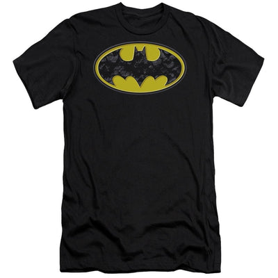 Batman Bats In Logo Men's Premium Slim Fit T-Shirt