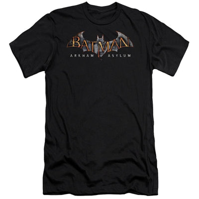 Batman - Arkham Arkham Asylum Logo Men's Premium Slim Fit T-Shirt