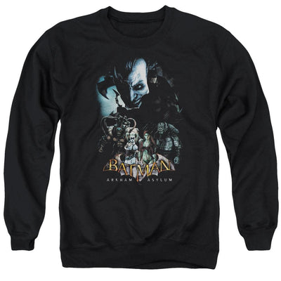 Batman - Arkham Five Against One Men's Crewneck Sweatshirt