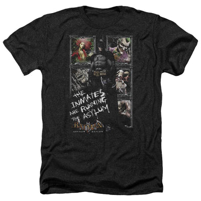 Batman - Arkham Running The Asylum Men's Heather T-Shirt