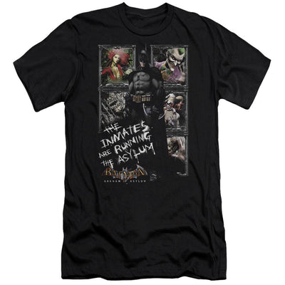 Batman - Arkham Running The Asylum Men's Premium Slim Fit T-Shirt