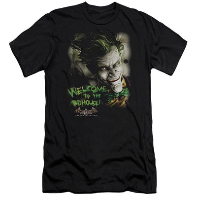 Batman - Arkham Welcome To The Madhouse Men's Slim Fit T-Shirt