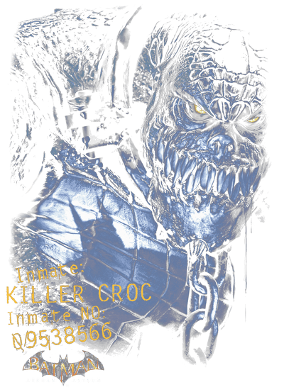 Batman - Arkham Arkham Killer Croc Men's Tall Fit T-Shirt
