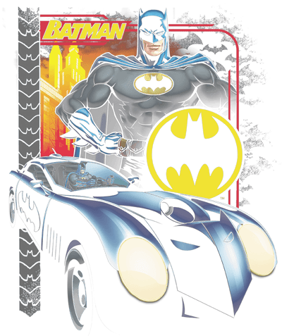 Batman Bat Racing Men's Heather T-Shirt