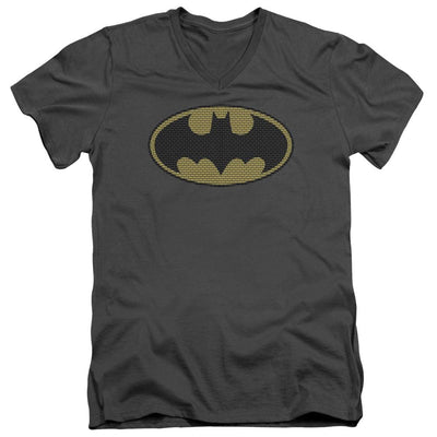 Batman Little Logos Men's V-Neck T-Shirt