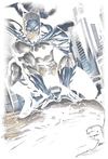 Batman Perched Juniors V-Neck T-Shirt