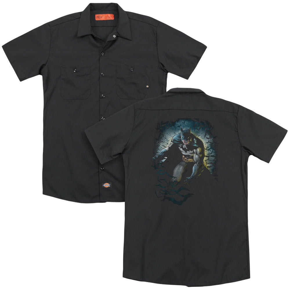Batman - Bat Cave Adult Work Shirt