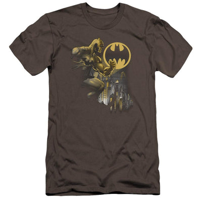 Batman Bat Signal Men's Premium Slim Fit T-Shirt