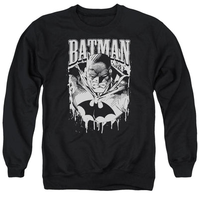 Batman Bat Metal Men's Crewneck Sweatshirt