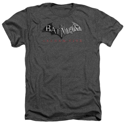 Batman - Arkham Logo Men's Heather T-Shirt