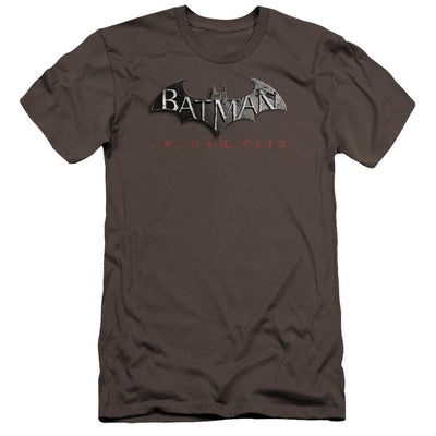 Batman - Arkham Logo Men's Premium Slim Fit T-Shirt