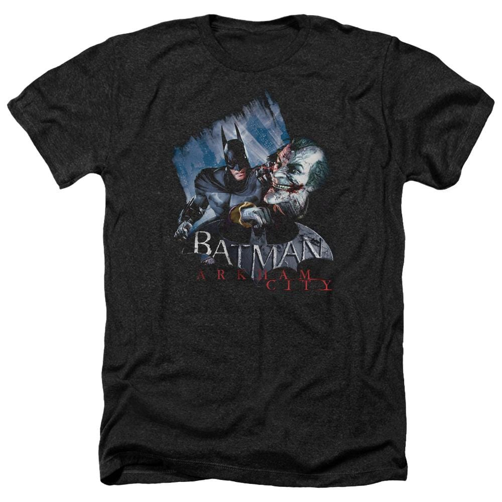 Arkham City - Joke's On You! Adult Regular Fit Heather T-Shirt