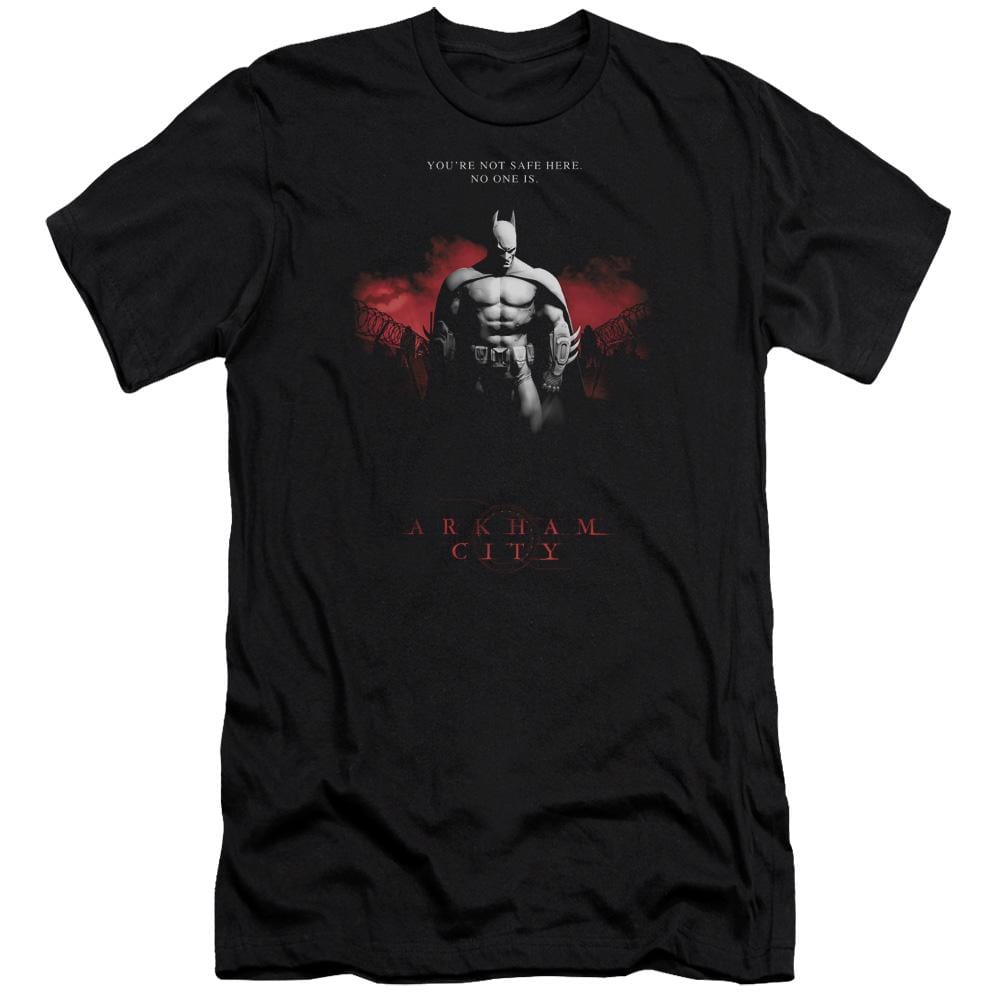 Arkham City Standing Strong Premium Adult Slim Fit T-Shirt