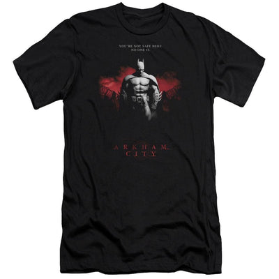 Batman - Arkham Standing Strong Men's Premium Slim Fit T-Shirt