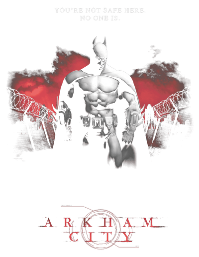 Batman - Arkham Standing Strong Men's Tank