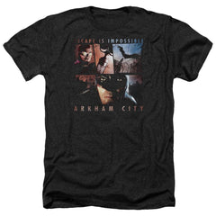 Arkham City - Escape Is Impossible Adult Regular Fit Heather T-Shirt