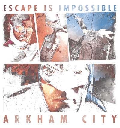 Batman - Arkham Escape Is Impossible Juniors V-Neck T-Shirt