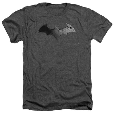 Batman - Arkham Bat Logo Men's Heather T-Shirt
