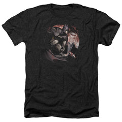 Arkham City - Blood Moon Adult Regular Fit Heather T-Shirt