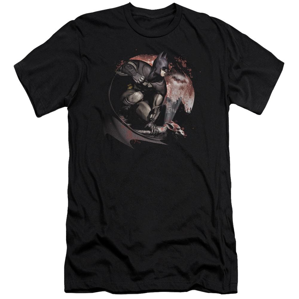 Arkham City Blood Moon Adult Slim Fit T-Shirt