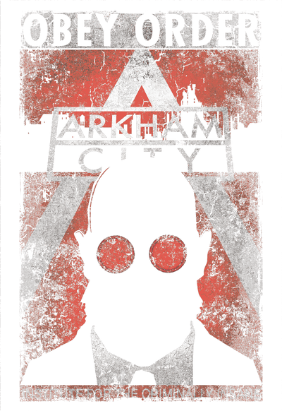Batman - Arkham Obey Order Poster Juniors T-Shirt