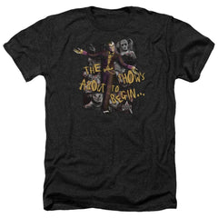 Arkham City - About To Begin Adult Regular Fit Heather T-Shirt