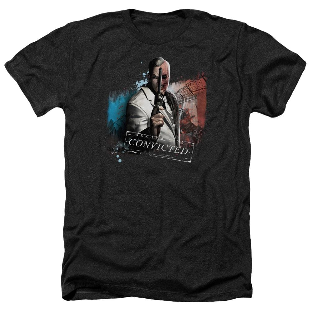 Arkham City - Two Face Adult Regular Fit Heather T-Shirt