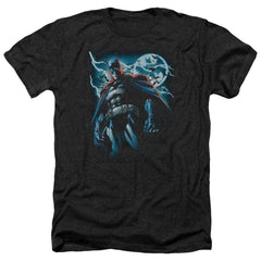 Batman - Stormy Knight Adult Regular Fit Heather T-Shirt