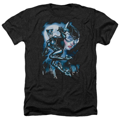 Batman Moonlight Cat Men's Heather T-Shirt