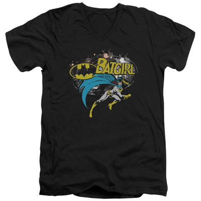 Batman Batgirl Halftone Men's V-Neck T-Shirt