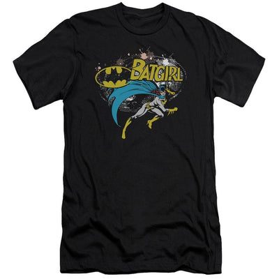 Batman Batgirl Halftone Men's Premium Slim Fit T-Shirt