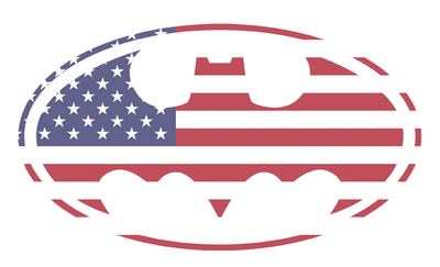 Batman American Flag Oval Men's Premium Slim Fit T-Shirt