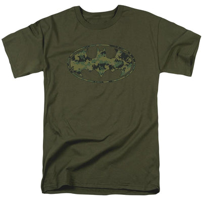 Batman Marine Camo Shield Men's Regular Fit T-Shirt
