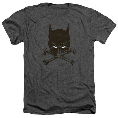 Batman Bat And Bones Men's Heather T-Shirt