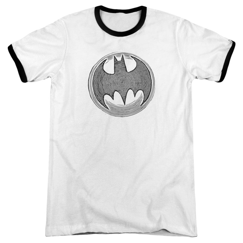 Batman - Knight Knockout Adult Ringer T- Shirt