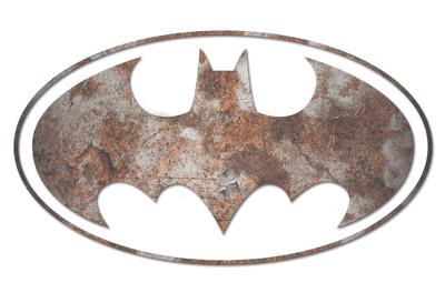 Batman Heavy Rust Logo Juniors T-Shirt