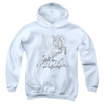 Batman Bat Sketch Youth Hoodie (Ages 8-12)