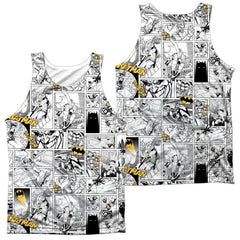 Batman Comic All Over Adult Tank Top