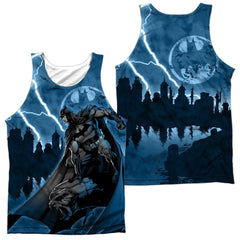 Batman Lightning Strikes Adult Tank Top