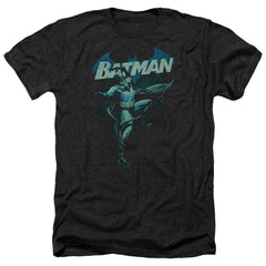 Batman - Blue Bat Adult Regular Fit Heather T-Shirt